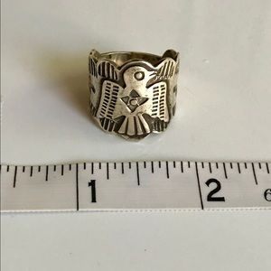 Thunderbird Stamped Sterling Silver 925 Ring